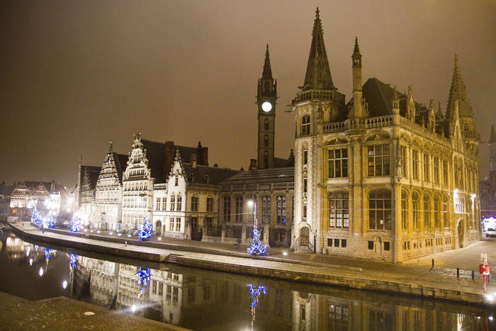 Night scene in Ghent